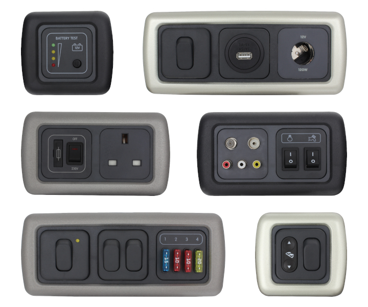 12v CBE/Clipsal Wall Switches & Sockets