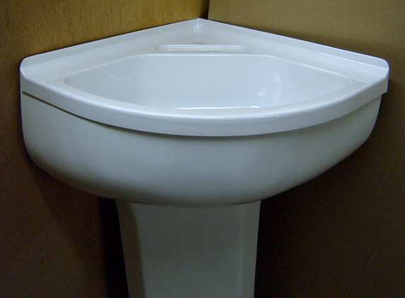 Corner Sink Pedestal : Corner Sink & Pedestal