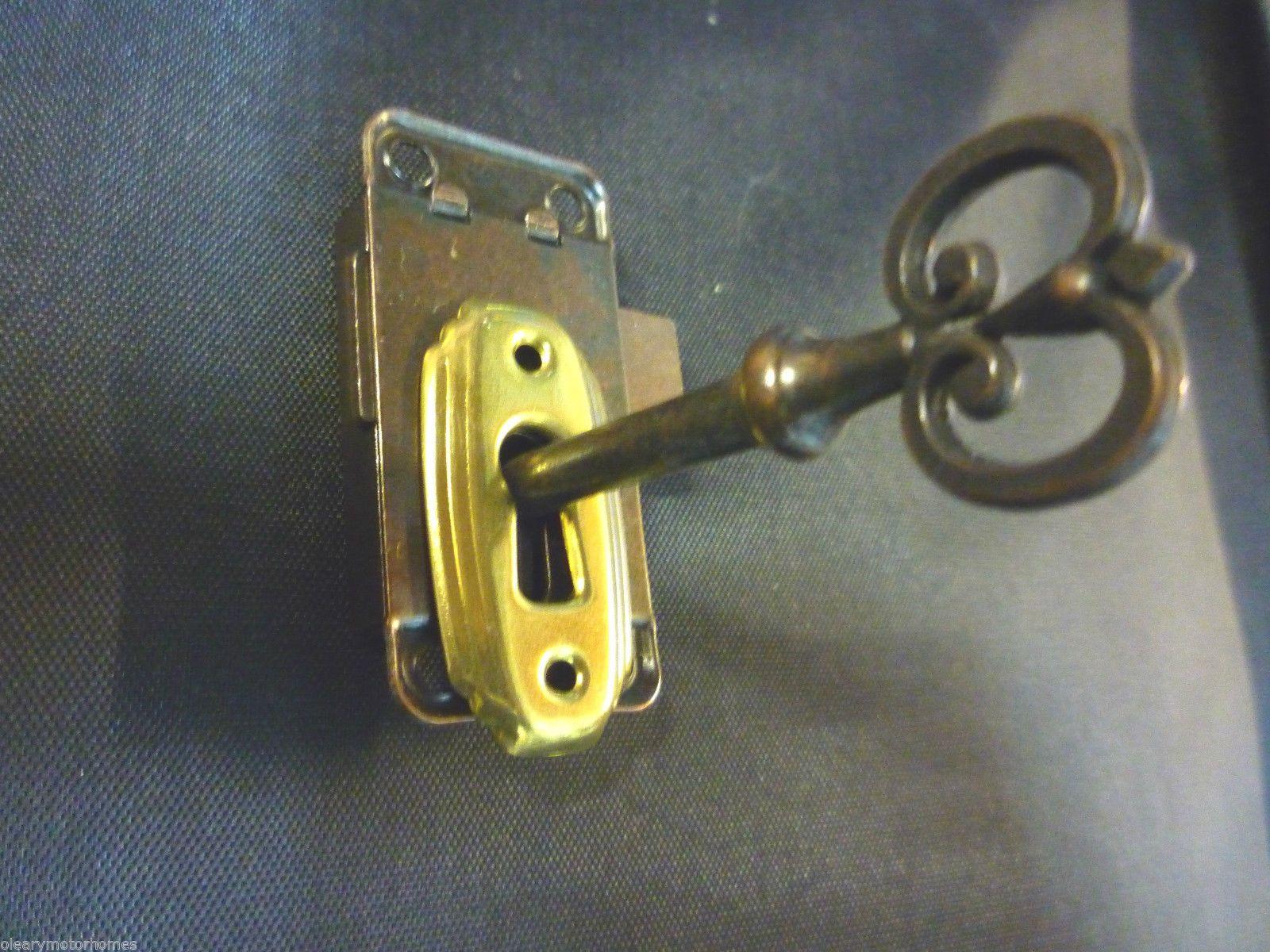 Caravan Motorhome Cupboard Door Lock Lockable Key Bronze