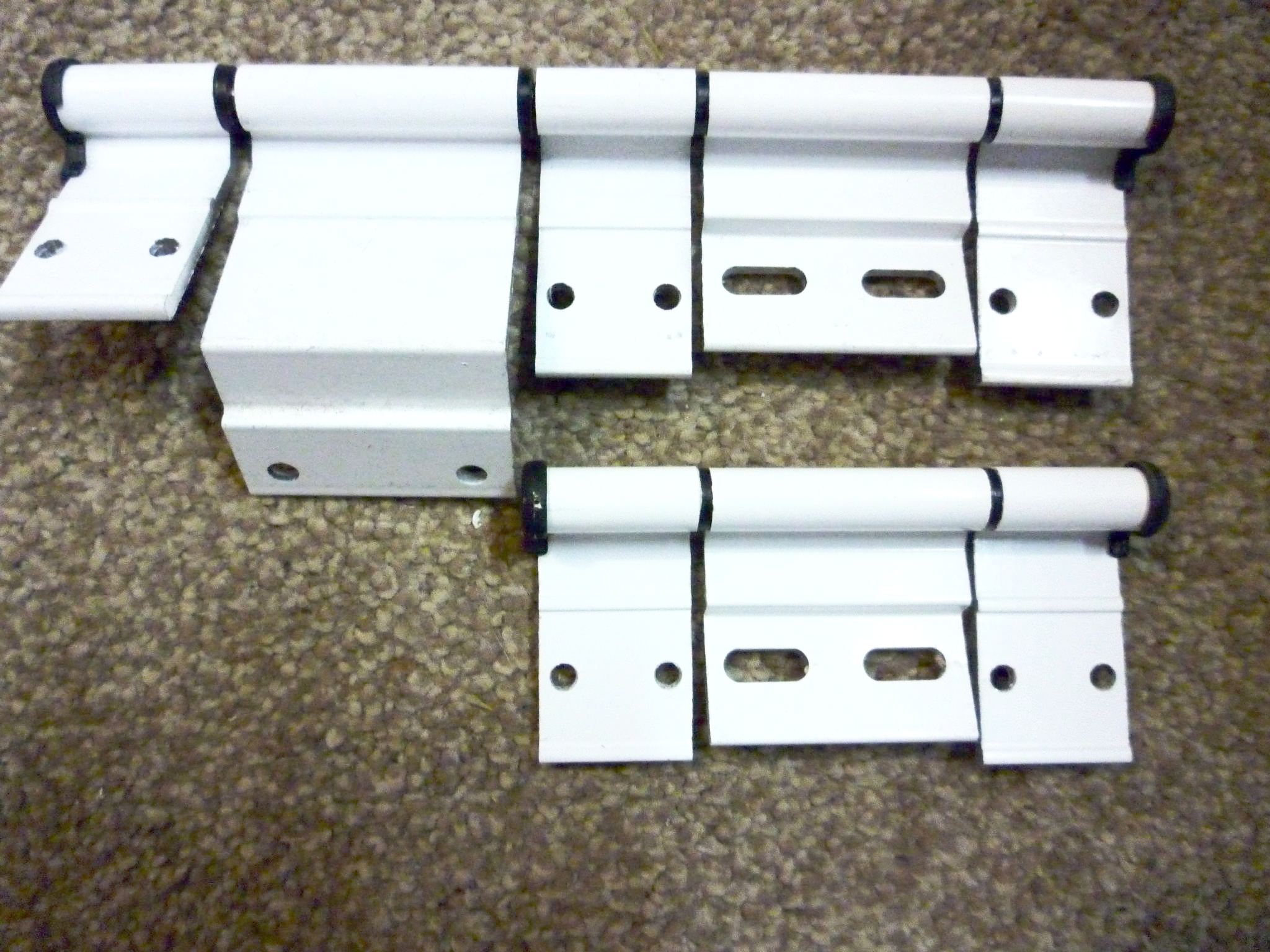 Ellbee White Triple Section Door Hinge Motorhome